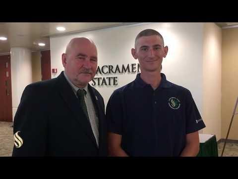 Sacramento State President Thanks Paramedic Student