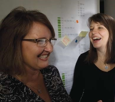 Cindy Edwards, instructional designer and Allison Shaw, technical writer for PACT