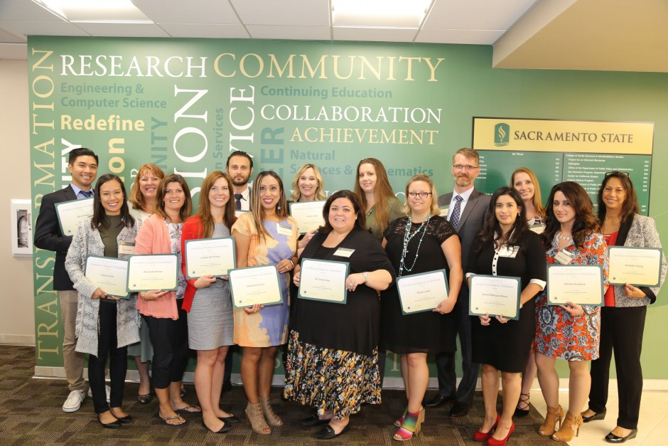 Graduates of the Judicial Administration Graduate Certificate at the Graduation and Networking Event 2018 at Sac State Downtown