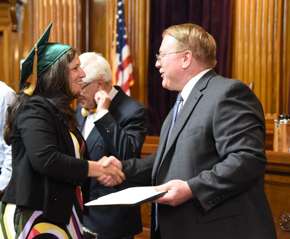 Stephanie Hansel earned her Graduate Certificate in Judicial Administration in 2016. (Courtesy: Herb Ong)