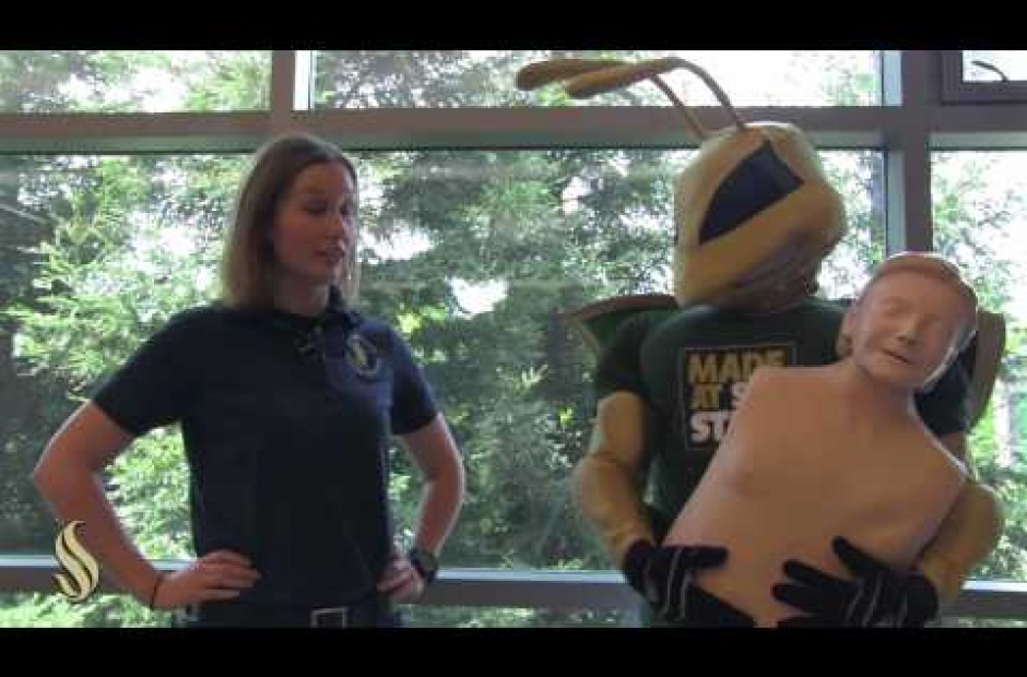 Herky is CPR certified! Are you?