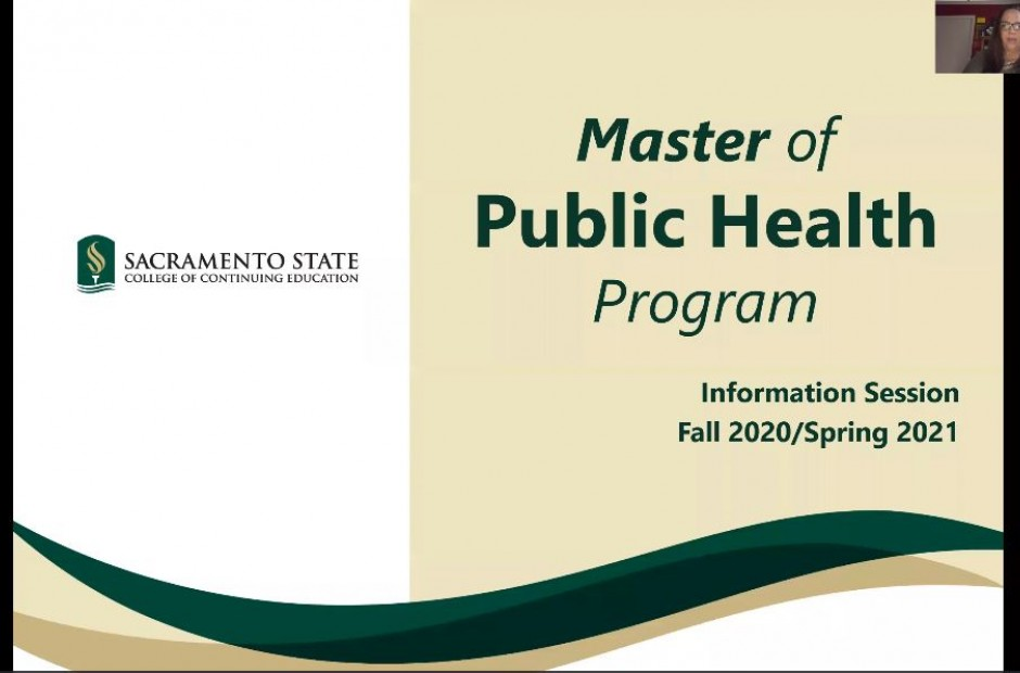 Master of Public Health Information Session link